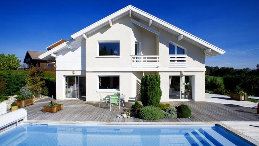 Plan de maison for Maison bois avec piscine