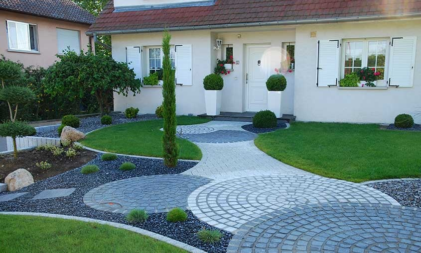 D co allee jardin for Decoration jardin villa