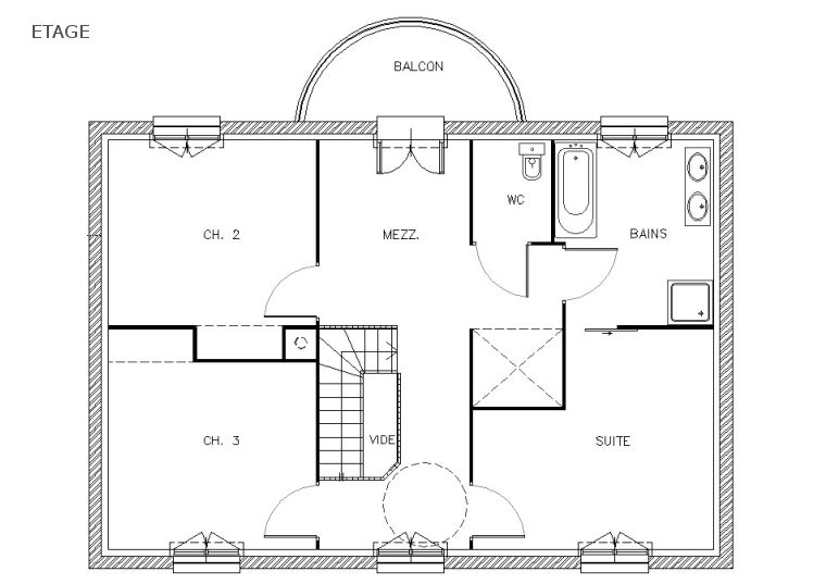 Plans de maison simple for Plan maison moderne gratuit pdf
