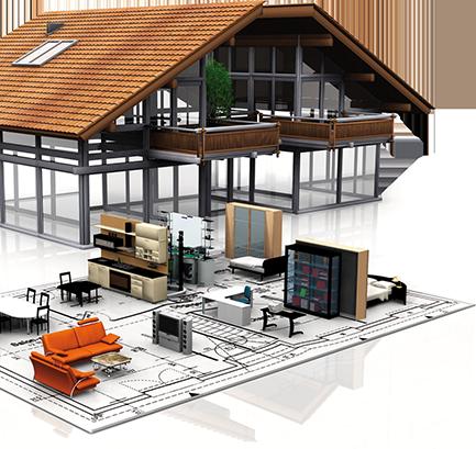 Am nager un bureau dans sa maison au pays basque plan for Architecte 3d plan de coupe