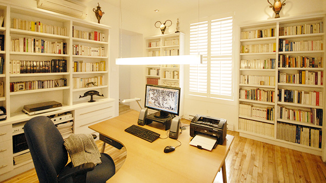 am nager un bureau dans sa maison au pays basque plan. Black Bedroom Furniture Sets. Home Design Ideas